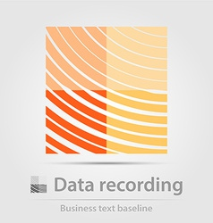 Data recording business icon vector
