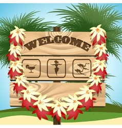 Welcome to paradise vector