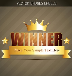 Golden winner label vector