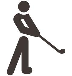 Golf icon vector