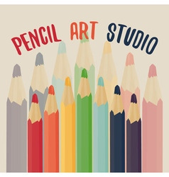 Pencil art studio vector
