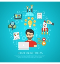 Crowdfunding Concept Flat vector image
