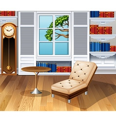 Living room fully furnished vector