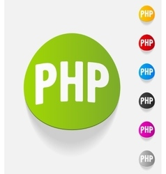 Realistic design element php vector