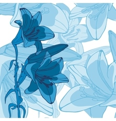 Elegant of lilly flowers vector