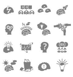 Brainstorm Flat Icons Set vector image