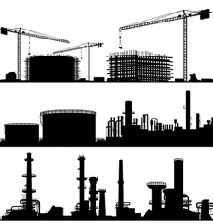 Industrial construction site set vector
