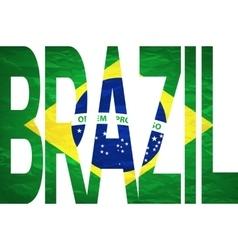 - brasil 2014 letters with brazilian flag vector