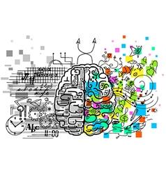 Brain hemispheres vector image vector image