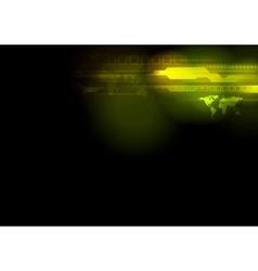Bright abstract tech design vector