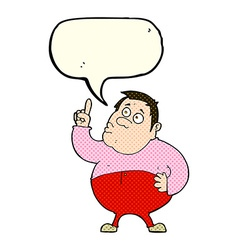cartoon man asking question with speech bubble vector image