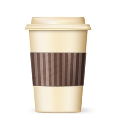 coffee cup to go 01 vector image vector image