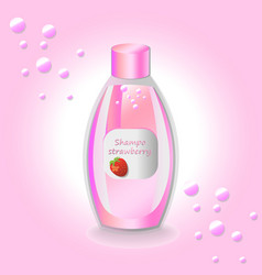 Cosmetics set package hydration shampoo vector