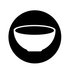 dish food isolated icon vector image vector image