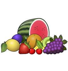 Fruits heap vector image
