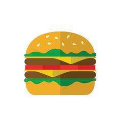 hamburger icon on white background vector image