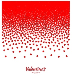 Hearts gradient background valentines day card vector
