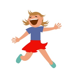 Set of kids jumping with joy vector image