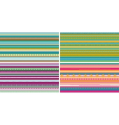 Set of seamless geometric striped patterns vector image vector image