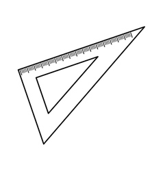 Set square ruler vector image