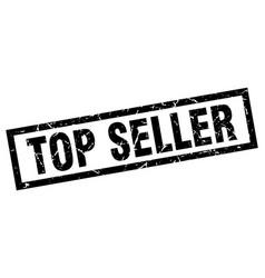 Square grunge black top seller stamp vector