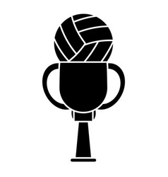 Trophy volleyball sport image pictogram vector