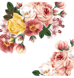 vintage background with beautiful roses or save th vector image vector image