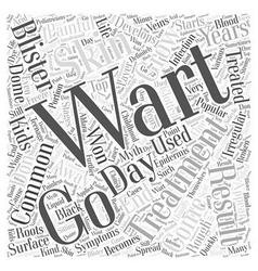 Warts in Kids Word Cloud Concept vector image vector image
