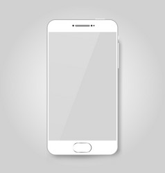 white mobile smart phone mock up game design vector image vector image