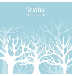 Winter background design with abstract stylized vector image vector image