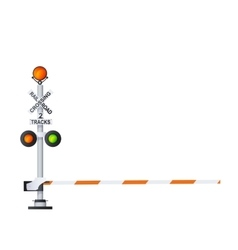 Railway Warning Sign vector image
