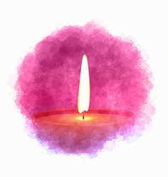 diwali diya in paint cloud vector image