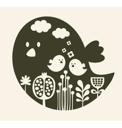 Print of cute cartoon bird vector image