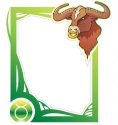 Zodiac frame series Taurus vector image
