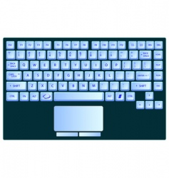 laptop keyboard vector image