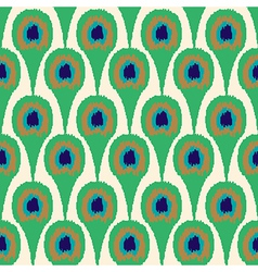 Seamless ornament pattern peacock vector