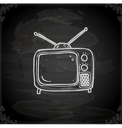 Hand drawn television vector