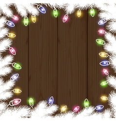 Lights and fir twigs vector