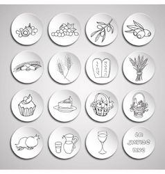 Shavuot icon set vector