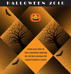A colorful creative Halloween background vector image