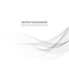 abstract background gray waved lines for vector image