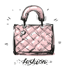 bag fas hion hand drawn sketch vector image vector image