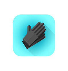 Black latex tattoo gloves vector