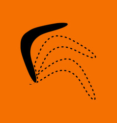 Boomerang icon vector