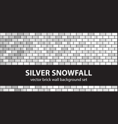 Brick pattern set silver snowfall seamless brick vector