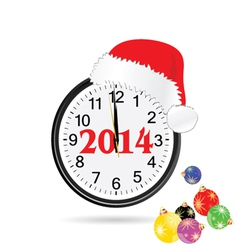 christmas clock color vector image vector image