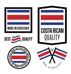 Costa rica quality label set for goods vector