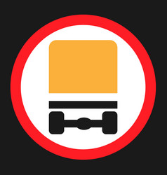 Dangerous goods transport prohibition sign icon vector