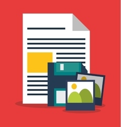 Diskette and digital marketing design vector