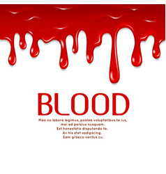 Dripping seamless blood horror concept vector